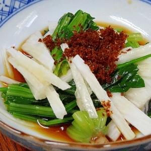 野菜一品☆ 「ほうれん草と長芋ポン酢和え」