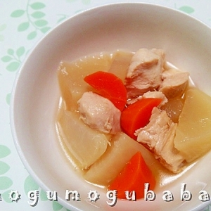 大根と鶏むね肉のあっさり煮