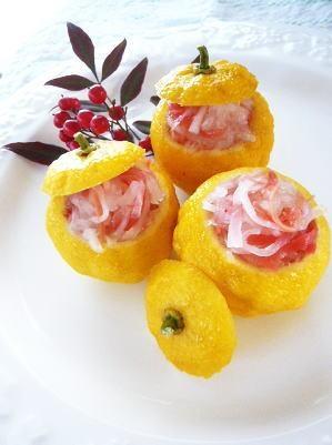 柚子とはちみつで、あっさりの甘味♪紅白なます