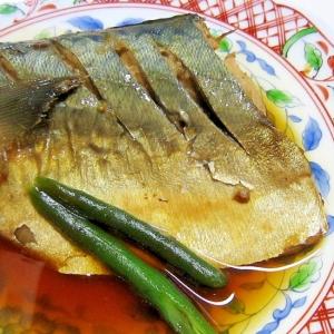 ずぼら飯(~_~;)生姜たっぷり煮さば