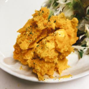 こどもも大好き♡チーズかぼちゃサラダ