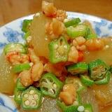 冬瓜とエビの煮物
