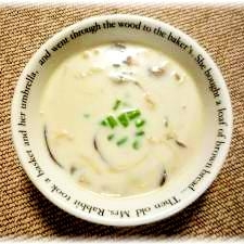 鶏肉ときのこのミルクスープ