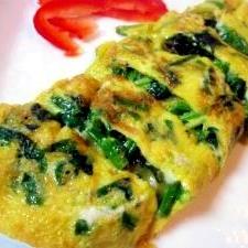 朝の100レシピ 27)ほうれん草入り卵焼き