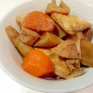 圧力鍋で☆簡単煮物☆根菜と油揚げ