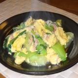 卵がポイント!チンゲン菜とふわふわ卵の塩こうじ炒め