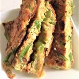 野菜と玉子で、簡単チヂミ風お好み焼き