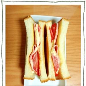 タルタルで♡ハムトマトサンド