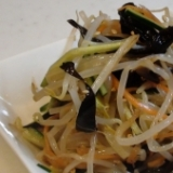 きくらげともやしの中華サラダ