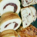 ホームベーカリーで一次発酵◎あんこ食パン
