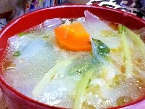 冷蔵庫の残り物すっきり中華スープ