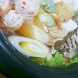 鶏団子の生姜鍋