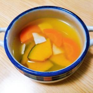 かぼちゃと人参とハムの中華スープ