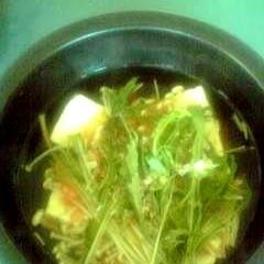 豆腐とえのきのあっさり醤油煮