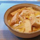 ♪味付けいらず♡厚揚げと白菜のツナ缶丸ごと煮♪