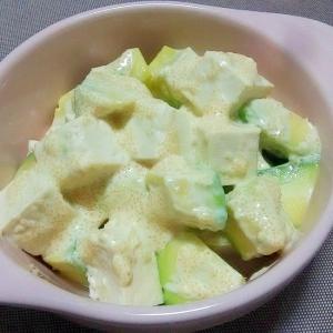 アボカドと豆腐の明太マヨ和え++
