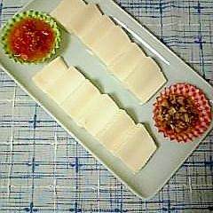 ☆塩豆腐前菜、トマト&椎茸ソース☆