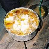 天然物で作るキノコ汁