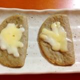 黒はんぺんのチーズ焼き(^^♪トースターで(^^♪