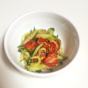 きゅうりとミニトマトの中華サラダ
