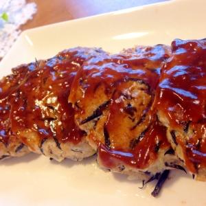 お弁当♪黒酢ソースが決め手♪ふわとろ豆腐ハンバーグ