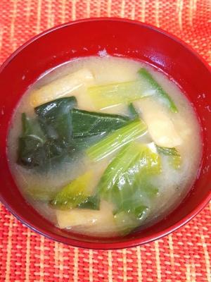 ★小松菜と油揚げの味噌汁★