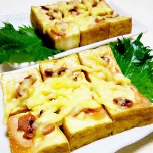 塩辛チーズde簡単うま~厚揚げ焼き
