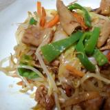 豚肉とホルモンの野菜炒め
