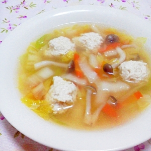 鶏団子のおかずスープ