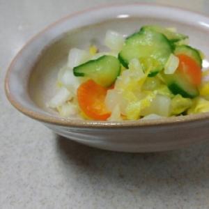 白菜の浅漬け(キュウリとニンジンも)