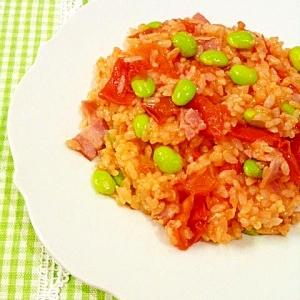 炊飯器で簡単!フレッシュトマトと枝豆のピラフ