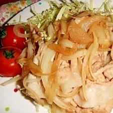 たまねぎたっぷり☆薄切豚肉で生姜焼き