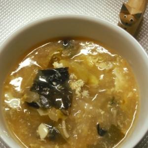 疲労回復⁉具だくさんのお酢の効いた簡単スープ
