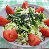 ワカメ入り野菜サラダ