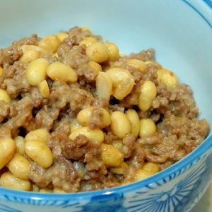 めっちゃ簡単☆大豆とひき肉の味噌チーズ炒め