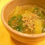 チンゲンサイの中華スープ★にんにくと生姜でうまうま