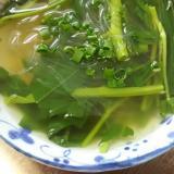 空芯菜と春雨のしょうがスープ(^^)