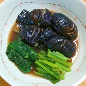 なすと小松菜の煮浸し