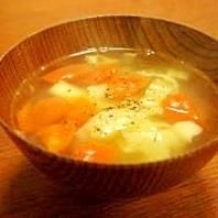 キャベツとトマトの中華スープ
