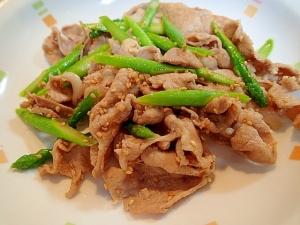味玉で ❤豚肉とアスパラの中華炒め❤