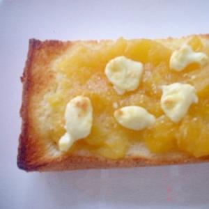 柿ジャム&クリームチーズ&粉チーズトースト~☆