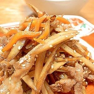 運命の出会い☆豚の生姜焼き+きんぴらごぼう☆