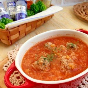 ホッコリ温まる♪ミートボールのトマトスープ♪
