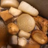 茅乃舎のだしで、おでんスープ