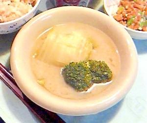 ロール白菜西京味噌仕立て