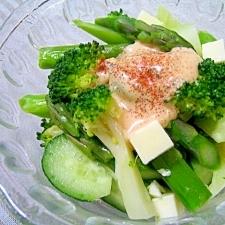 アスパラとブロッコリーの温野菜サラダ☆