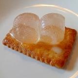 あんずジャムとわらび餅のココナッツサブレ