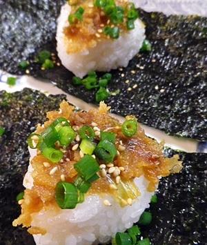 石川県ネギ味噌焼きおにぎり風