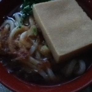 高野豆腐と木の芽のうどん