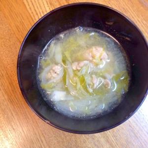 キャベツと豚肉の簡単スープ